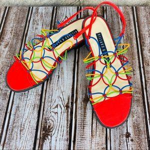 Hillard & Hanson Kalina Rainbow Colors Sandals